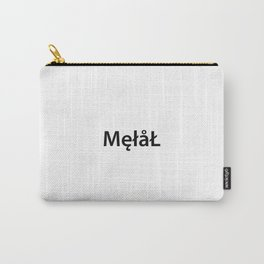 Metal New Font Carry-All Pouch