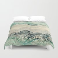 waves Duvet Covers featuring Crash Into Me  by rskinner1122
