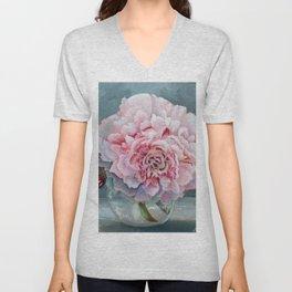 Peony Memories Flower Painting Unisex V-Neck