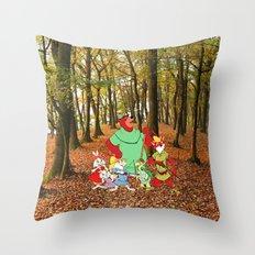 Robin Hood and the Gang Throw Pillow