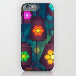 Colorful Lanterns Pattern iPhone Case