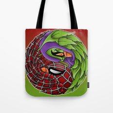 spider yin yang Tote Bag