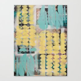 Abstract yellow and blue Canvas Print