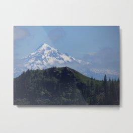 Snowy Mt Hood Metal Print