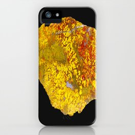 Cady Mountain Yellow Plume Agate iPhone Case