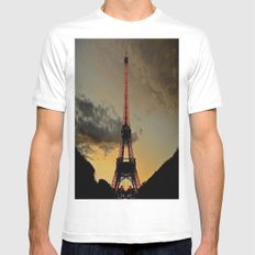 Tower Sunset Mens Fitted Tee White MEDIUM
