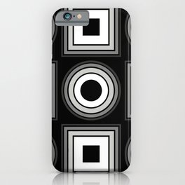 Fade To Black - Abstract, black and white, geometric, 3D effect artwork iPhone Case