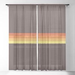 Abstract Sunrise Stripes Tecumbalam Sheer Curtain