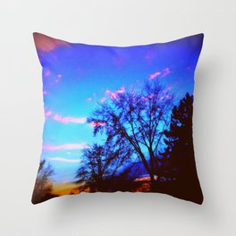 Colorful Sky (vintage) Throw Pillow