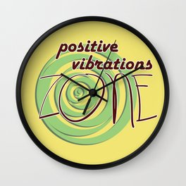 Positive Vibrations ZONE Wall Clock