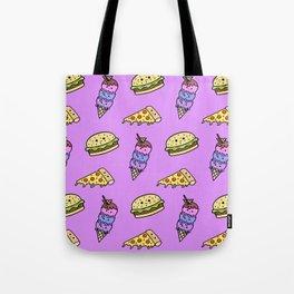 Fast Food Cuties (Purple) Tote Bag