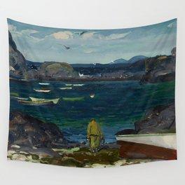 The Harbor, Monhegan Coast, Maine, 1913 Wall Tapestry