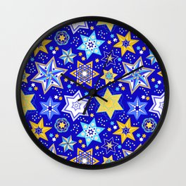 Embellished Stars of David Wall Clock