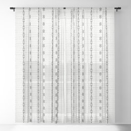 FRENCH LINEN STRIPE Sheer Curtain