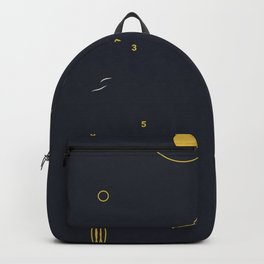minimalist black #4 Backpack