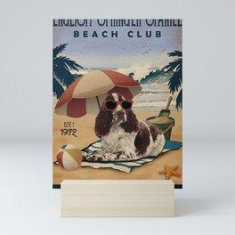Beach Life Sandy Toes English Springer Spaniel dog gift Mini Art Print