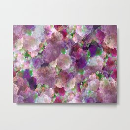Beautiful ultra violet floral pattern Metal Print