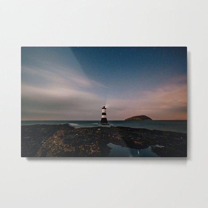 Evening Lighthouse Metal Print