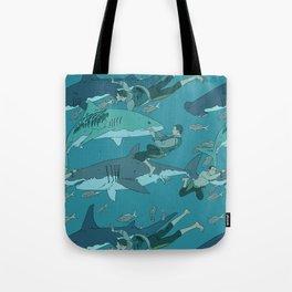Sharks Pattern Tote Bag