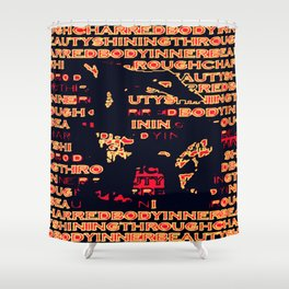 Charred 'Fragmented' Shower Curtain