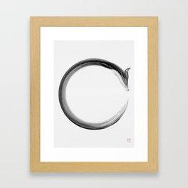 CalmFox Enso Framed Art Print