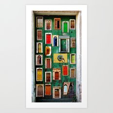 Storytelling doors  Art Print