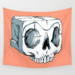 Sugar Cube Skull Wall Tapestry