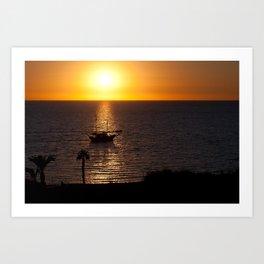 Sunset in Cyprus Art Print