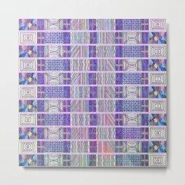 Seamless Colorful Geometric Pattern XXVI Metal Print