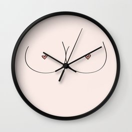 Boobs - Pale Wall Clock