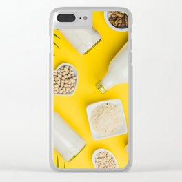 dairy free milk substitute drinks and ingredients Clear iPhone Case