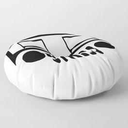 Jeep Logo Floor Pillow
