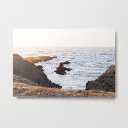 Fort Bragg - California Coast at Sunset Metal Print