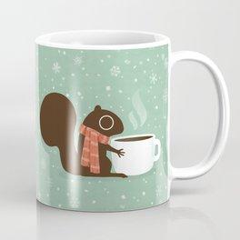 Squirrel Coffee Lover Holiday Coffee Mug