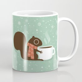 Cute Squirrel Coffee Lover Winter Holiday Coffee Mug