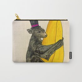 Banana Bat Wearing a Hat Carry-All Pouch