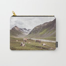 Tyrolean Haflinger horses I Carry-All Pouch