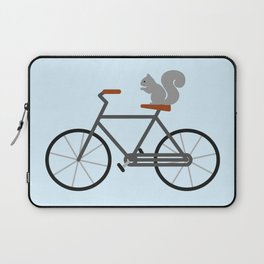 Squirrel Riding Bike Laptop Sleeve