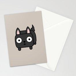 German Shepherd Loaf in Black Stationery Cards