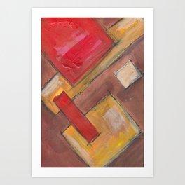 Tilting Tiles Art Print