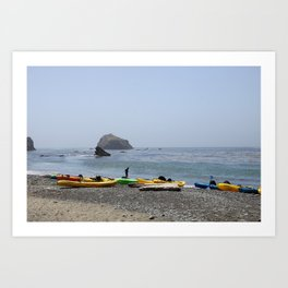 Canoes At Bodega Bay Art Print