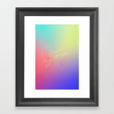 I Feel Music In Your Eyes Framed Art Print