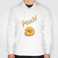 peach Hoodies featuring Peach by Ken Coleman
