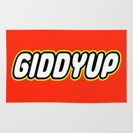 GIDDYUP in Brick Font Logo Design by Chillee Wilson Rug