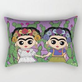 Two Fridas Rectangular Pillow