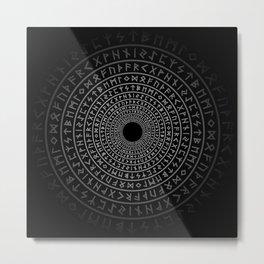 Runic Tunnel Metal Print