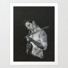 Benedict Cumberbatch: Violin Art Print
