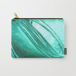 Deep sea blue glass texture Carry-All Pouch