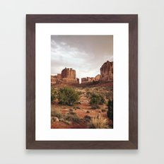 Desert Red Utah Rocks Framed Art Print