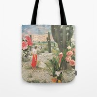 cactus Tote Bags featuring Decor by Sarah Eisenlohr